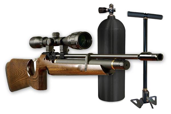 2)Заправка баллонов и винтовок PCP в тире Air-Gun