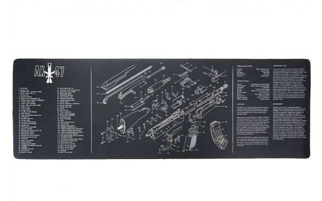 Коврик для чистки оружия АК-47 90х30 см.