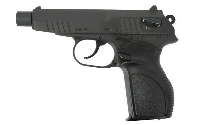 Травматический пистолет П-М20Т 9 мм Р.А. (рукоятка Дозор, с насечками)