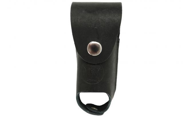 Чехол для газового баллончика 65 мл (натуральная кожа, черный, лямки)