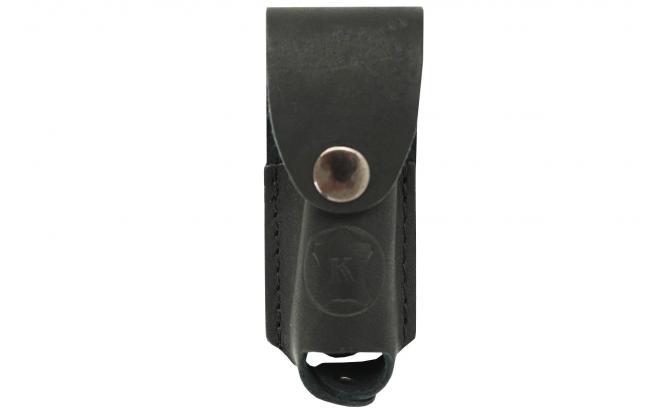 Чехол для газового баллончика 25 мл (натуральная кожа, черный, лямки)