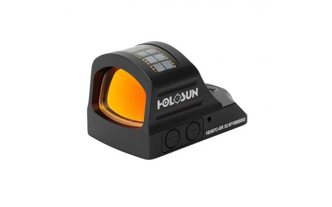 Коллиматорный прицел Holosun OpenELITE X2 micro открытый, солнечная батарея, точка 2МОА GREEN, подсветка 12 (+NV)