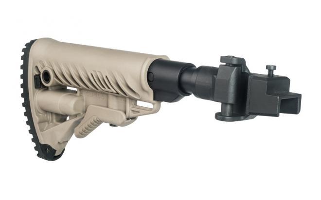 Складной телескопический приклад Fab-Defense с амортизатором для АК 47, 74, Сайга металлическое соединение (fx-m4aksbt)