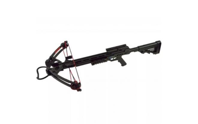 Набор для блочного арбалета Man Kung XB52, black (приклад, кивер, прицел, крепеж, 4 стрелы)