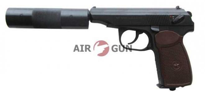 Пневматический пистолет МР 654К-22 с фальшглушителем 4,5 мм