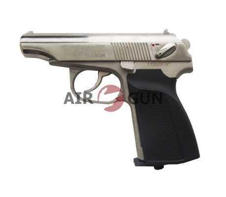 Пневматический пистолет МР 654К (белый корпус,белый затвор,черная рукоятка, в кейсе) 4,5 мм
