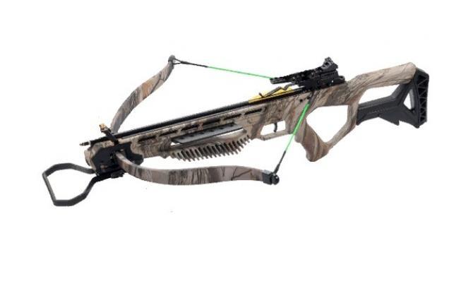 Набор для рекурсивного арбалета Man Kung XB25, god camo (приклад, кивер, стрелы, прицел, крепеж)