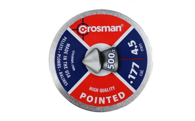 Пули пневматические Crosman Pointed 4,5 мм 7,4 грана (500 шт.)