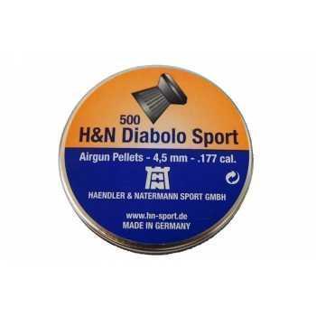 Пули пневматические H&N Diabolo Sport 4,5 мм 8,18 гран (500 шт.)