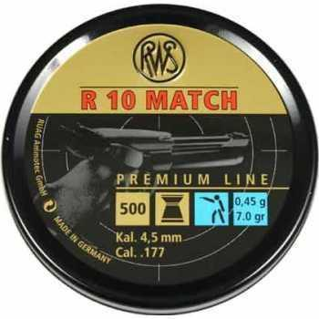 Пули пневматические RWS R10 облегчённые 4,5 мм 0,45 грамма (500 шт.)