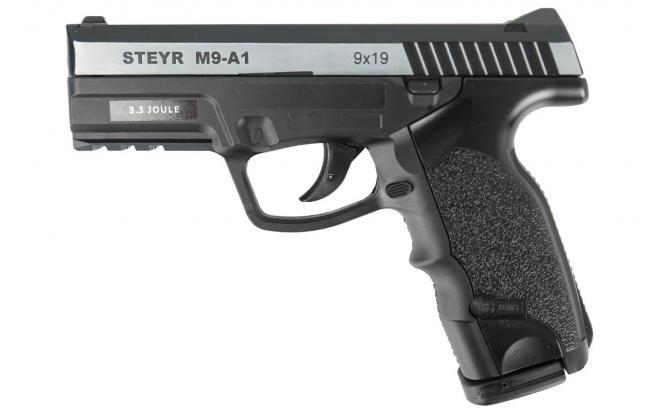 Пневматический пистолет ASG Steyr M9-A1 металлический затвор 4,5 мм