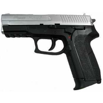 Пневматический пистолет Cybergun Sig Sauer SP 2022 металлический затвор, никель 4,5 мм