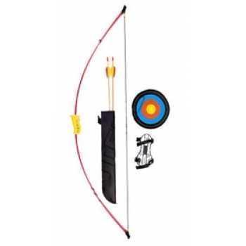 Лук детский классический красный 4,5 кг, 93 см (колчан, 2 стрелы, крага, мишень)