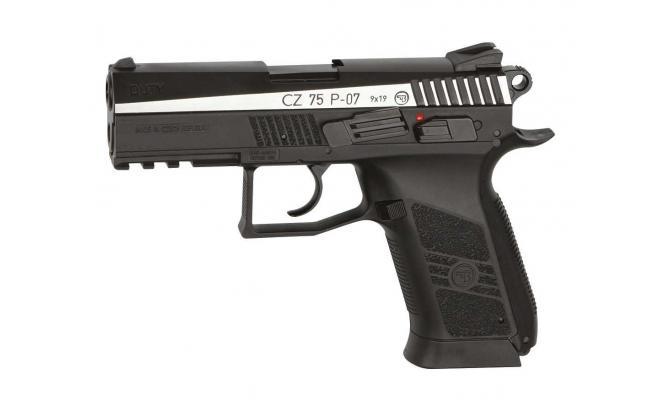Пневматический пистолет ASG CZ-75 P-07 Duty DT двуцветный 4,5 мм