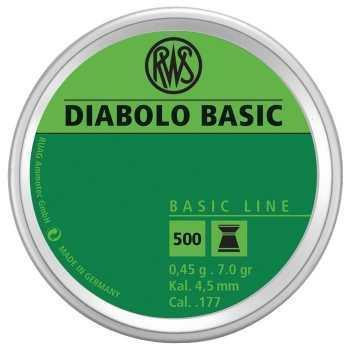 Пули пневматические RWS Diablo basic 4,5 мм 0,45 грамм (500 шт.)