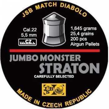 Пули пневматические JSB Straton Jumbo Monster Diabolo 5,5 мм 1.645 гр (200 шт.)