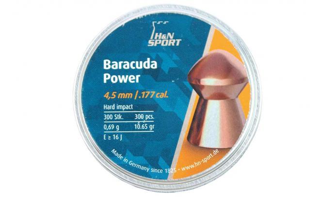 Пули пневматические H&N Baracuda Power 4,5 мм 0,69 грамма (300 шт.)