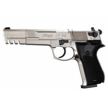 Пневматический пистолет вальтер Umarex Walther CP88 Competition nickel 4,5 мм