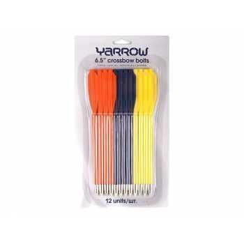 Набор стрел Yarrow для пистолета-арбалета 6.5 пластик (12 шт.) цветные