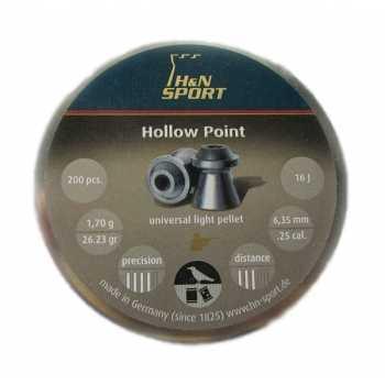Пули пневматические H&N Hollow Point 6.35 мм 1,70 грамма (200 шт.) headsize 6,35 мм