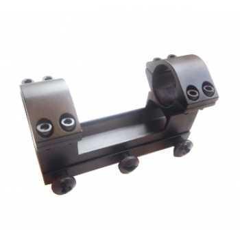Кронштейн моноблок с кольцами 25.4 мм на планку Weaver высокий
