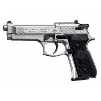 Пневматический пистолет Umarex Beretta 92 FS Никель (с чёрн. накладками) 4,5 мм