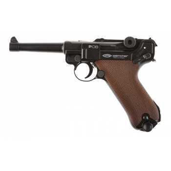 Пневматический пистолет Gletcher P 08 (люгер) с блоубэком 4,5 мм
