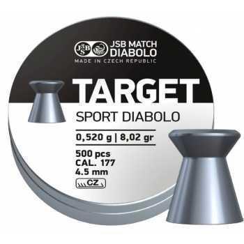 Пули пневматические Match Diabolo Target Sport 0,52 грамма (500 шт.)