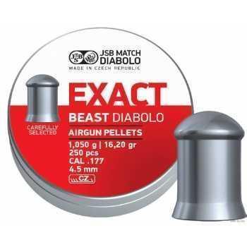 Пули пневматические JSB Exact beast diabolo  1,05 грамма (250 шт.)