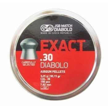 Пули пневматические JSB Exact Diabolo 3,25g 7,62 мм (150 шт)