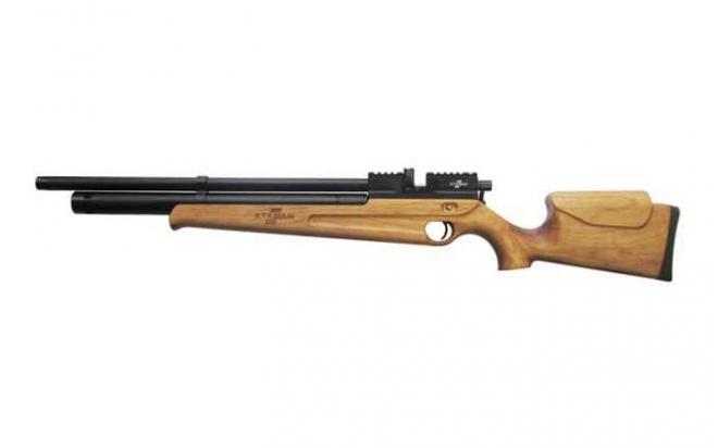 Пневматическая винтовка Ataman M2R Карабин укороченная 5,5 мм (Дерево)(магазин + модератор)(115C/RB)