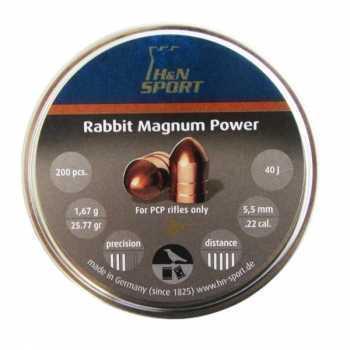 Пули пневматические H&N Rabbit magnum Power 5,5 мм 1,67 грамма (200 шт.)