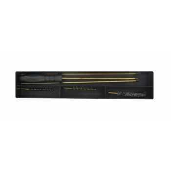 Набор для чистки нарезного оружия 22 кал. (5,6) в коробке, шомпол металлический