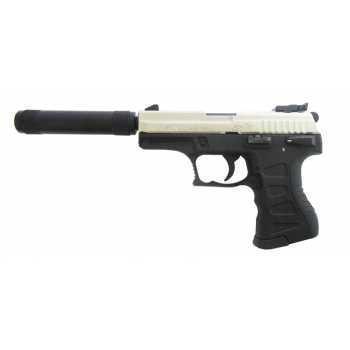 Пневматический пистолет Аникс Скиф А-3000 ЛБ (Anics - Skiff A-3000 LB) никелированная рама 4,5 мм