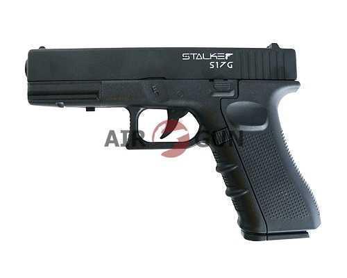 Пневматический пистолет Stalker S17G (аналог Glock17) металл, пластик черн. 4,5 мм (ST-22051G)