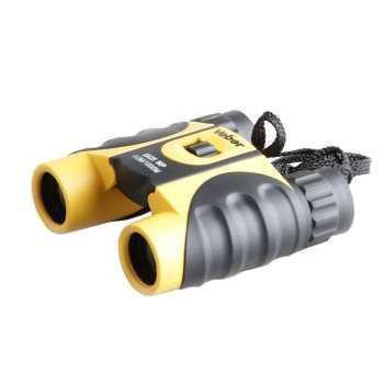 Бинокль Veber 10x25 Waterproof черно-желтый