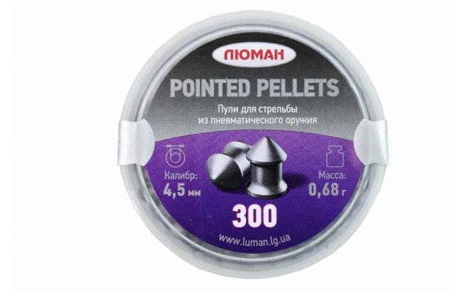 Пули пневматические Люман Pointed pellets 4,5 мм 0,68 грамма (300 шт.)