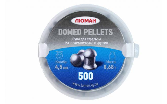 Пули пневматические Люман Domed pellets 4,5 мм 0,68 грамма (500 шт.)