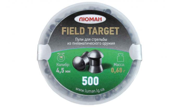 Пули пневматические Люман Field Target 4,5 мм 0,68 грамма (500 шт.)