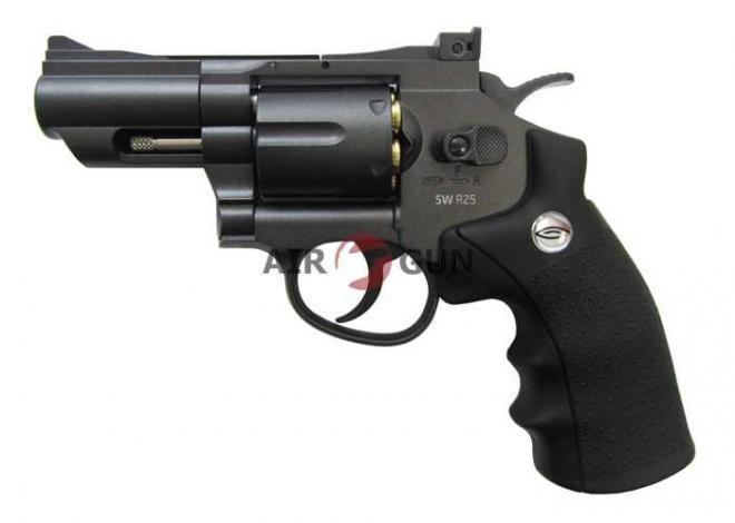 Пневматический револьвер Gletcher SW R25 Black 4,5 мм