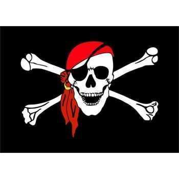 Флаг пиратский размер 40х65 см