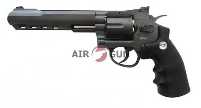 Пневматический пистолет Gletcher SW R6 Black 4,5 мм