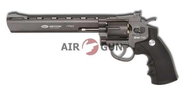 Пневматический пистолет Gletcher SW R8 Black 4,5 мм