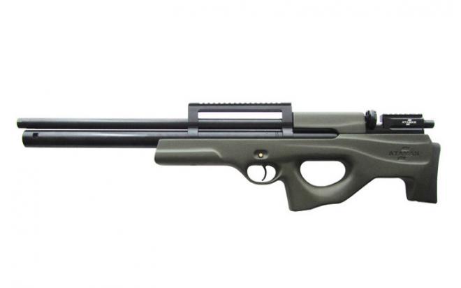 Пневматическая винтовка Ataman M2R Булл-пап 9 мм (Зелёный)(магазин + модератор)(H439/RB)