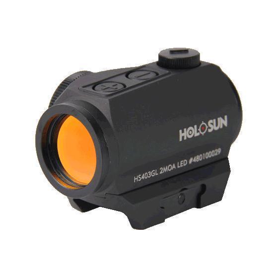 Коллиматорный прицел Holosun PARALOW (HS403GL) на Weaver/Picatinny, без паралакса, водонепр., автооткл, марка точка 2MOA красн