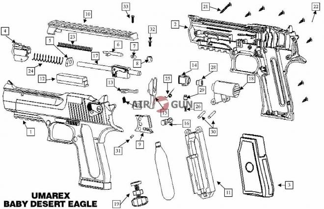 eagle из desert бумаги схема
