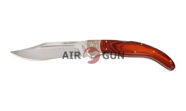 Нож складной Ножемир красное дерево, зеркальная полировка, back lock (С-160)