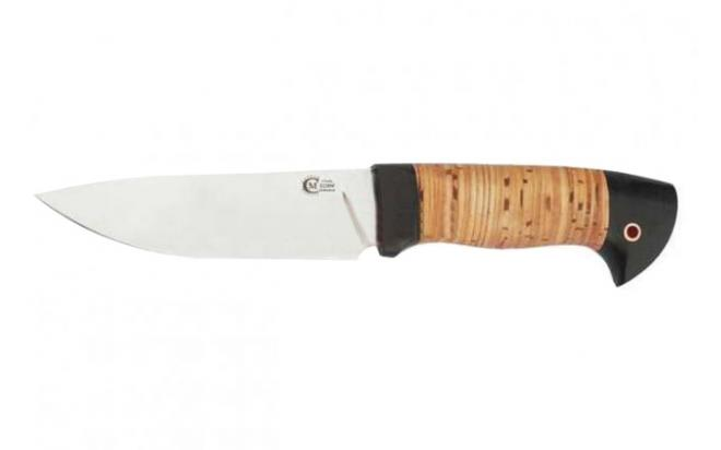 Нож Сокол кован, ст Х12МФ, береста