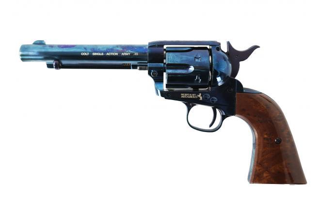 Пневматический пистолет Umarex Colt SAA .45-5,5 blue finish пулевой 4,5 мм
