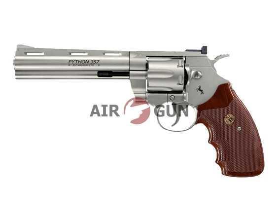 Пневматический пистолет Umarex Python .357 nickel, 6